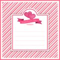 Valentine banner template design no2 Royalty Free Stock Photo