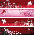 Valentine Banners. Royalty Free Stock Photo