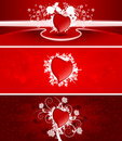 Valentine banners Royalty Free Stock Photo