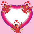 Valentine birds Imagem de Stock Royalty Free