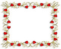 Valentine Border Hearts Frame 3D Royalty Free Stock Image