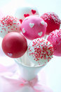Valentine cake pops Stock Photography