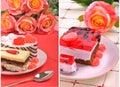 Valentine cakes Stockfotografie