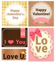 Valentine card Photo libre de droits