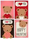 Valentine card Image libre de droits