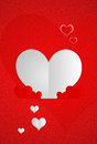 Valentine card design Royaltyfri Bild