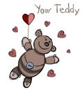 Valentine card design. Teddy Royalty Free Stock Photography