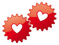 Valentine card heart icon love concept feelings vector illustration of a gear hearts Royalty Free Stock Image