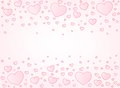 Valentine card hearts illustration background vector with copyspace Stock Image
