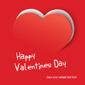 Valentine card paper cut vector illustration Royalty Free Stock Images