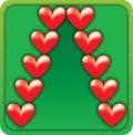 Valentine Christmas Tree Stock Images