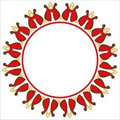 Valentine circle frame. Royalty Free Stock Images
