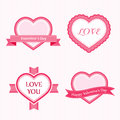 Valentine Collection of Labels Royalty Free Stock Images
