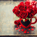 Valentine composition Royalty Free Stock Photo