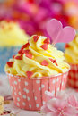 Valentine cupcake Stock Photography