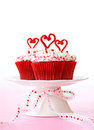 Valentine cupcakes Royalty Free Stock Photo