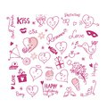 Valentine cute elements Image stock