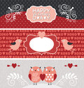 Valentine Day banners Royalty Free Stock Photos