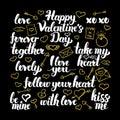 Valentine Day Calligraphy Design