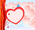 Valentine Day Card with abstract heart background Royalty Free Stock Photo