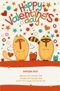 Valentine day cats Stock Photos