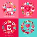 Valentine Day Concepts Set