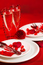 Valentine day dinner Royalty Free Stock Photo