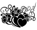 Valentine day floral design element Royalty Free Stock Photo