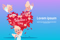 Valentine Day Gift Card Holiday Amour Love Cupid Heart Shape