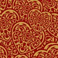 Valentine day gold seamless wallpaper pattern Royalty Free Stock Photography