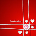 Valentine day greeting card Royalty-vrije Stock Afbeelding