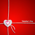 Valentine day greeting card Fotografia Stock Libera da Diritti