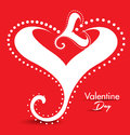 Valentine day gretting card abstrait Photos stock