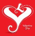 Valentine day gretting card abstrato Fotos de Stock
