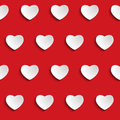 Valentine day heart seamless pattern background vector Stock Photos
