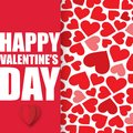 Valentine Day with Hearts Background Vector Image