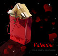 Valentine day holidays gifts in Stock Image
