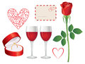 Valentine day icon set Royalty Free Stock Photos
