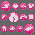 Valentine day icon set collection Immagine Stock