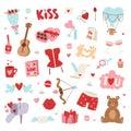 Valentine Day icons vector illustration