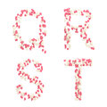 Valentine day love alphabet made of hearts Stock Photography