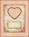 Valentine day Love Cards, Vintage Love Notes Royalty Free Stock Image