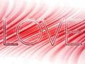 Valentine Day Love Word Background
