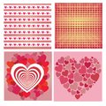 Valentine day patterns for valentine greeting cards