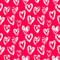 Valentine Day pink hearts pattern vector background Royalty Free Stock Photo