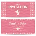 Valentine day romantic invitation card or postcard vector illustration Royalty Free Stock Image