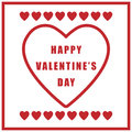 Valentine day simple retro poster on white background