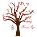 Valentine Day Tree of Love Vector Image Royalty Free Stock Photo