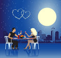 Valentine day, urban scene, couple Royalty Free Stock Photography