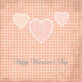 Valentine days grunge greeting card dot design Foto de archivo